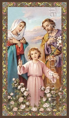 Saint Family - prayer cards - package