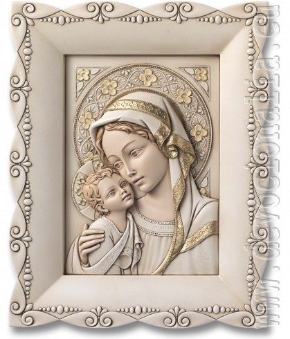 Madonna with child - resin relief image