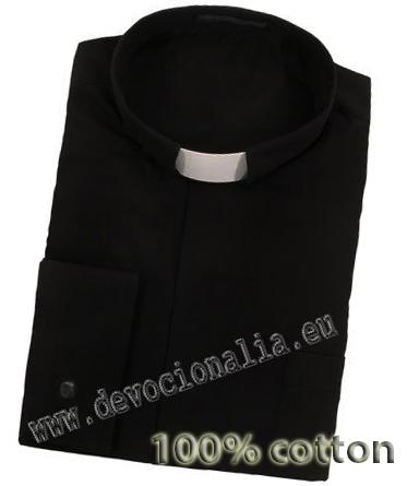 71625ac29382 Biela kňazská košeľa - manžetové gombíky