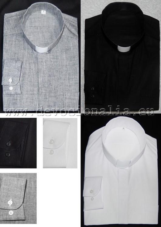 843bf9004988 Kňazská košeľa 70%ľan+30%bavlna - dlhý rukáv