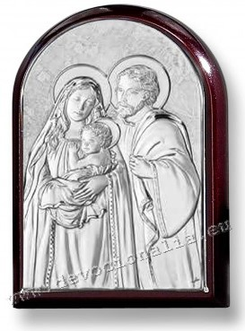 Silvering plaquette  5x7cm - Holy Family