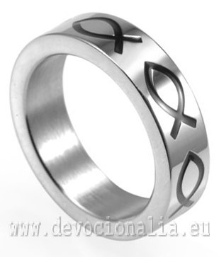 Ring - Ichthus Fish - Stainless Steel