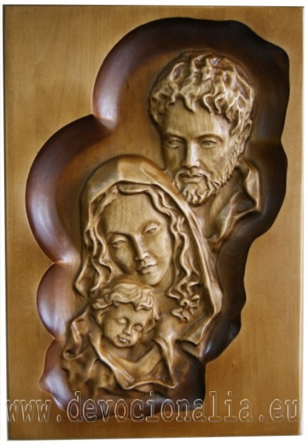 Woodcarving - Holy Family - 33x23cm image