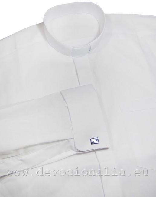 63bc3172a Biela kňazská košeľa - manžetové gombíky   sk.devocionalia.eu