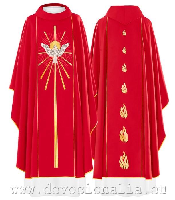 4f4e7b0e5d93 Červený ornát - Výšivka svätý Duch - 015